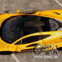 McLaren P1 2013 für GTA 4 rechte Ansicht