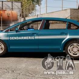 Citroen C4 Gendarmerie [ELS] pour GTA 4 est une gauche