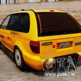 Dodge Grand Caravan 2005 Taxi NYC pour GTA 4 Vue arrière de la gauche