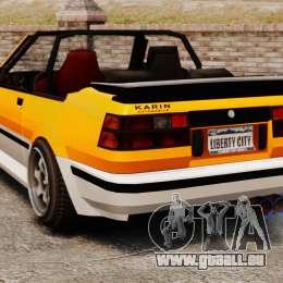 Version cabriolet de Futo pour GTA 4 Vue arrière de la gauche