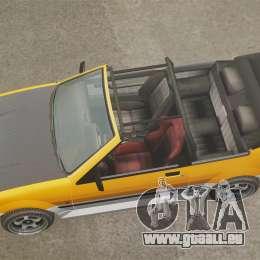 Version cabriolet de Futo pour GTA 4 est un droit