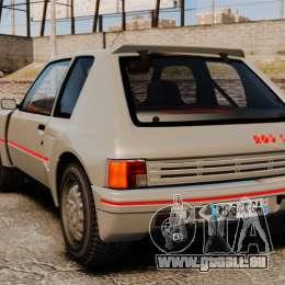 Peugeot 205 Turbo 16 pour GTA 4 Vue arrière de la gauche