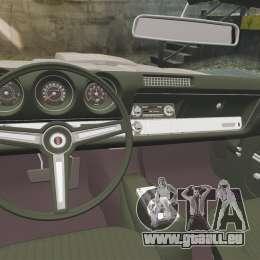 Oldsmobile Cutlass Hurst 442 1969 v1 pour GTA 4 est une vue de l'intérieur