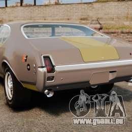 Oldsmobile Cutlass Hurst 442 1969 v1 pour GTA 4 Vue arrière de la gauche