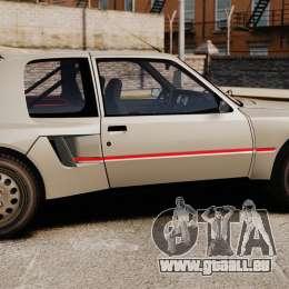 Peugeot 205 Turbo 16 pour GTA 4 est une gauche