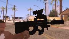 P90 AEG avec lampe de poche