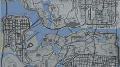 Landkarte im Stile von GTA 5
