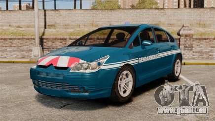Citroen C4 Gendarmerie [ELS] pour GTA 4