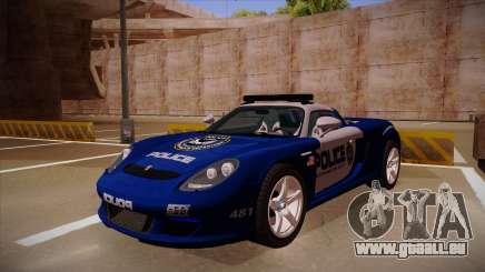 Porsche Carrera GT 2004 Police Blue für GTA San Andreas
