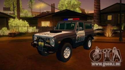 Ford Bronco 1966 Sheriff pour GTA San Andreas
