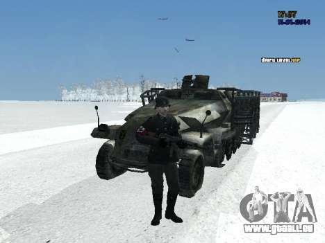 SdKfz 251 für GTA San Andreas Rückansicht
