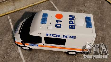 Ford Transit 2013 Police [ELS] pour GTA 4 est un droit