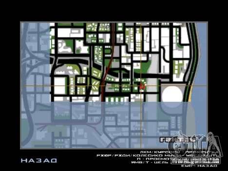 Neue Motorhaube und Symbole auf der Karte für GTA San Andreas her Screenshot