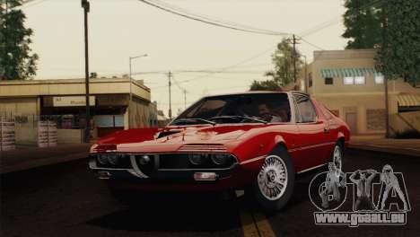 Alfa Romeo Montreal (105) 1970 für GTA San Andreas zurück linke Ansicht