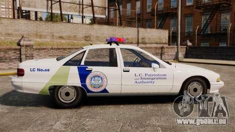 Chevrolet Caprice Police 1991 v2.0 N.o.o.s.e pour GTA 4 est une gauche