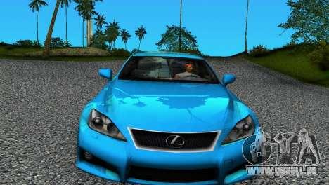 Lexus IS-F pour une vue GTA Vice City de la gauche