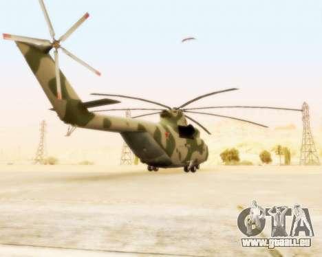 MI-26 für GTA San Andreas zurück linke Ansicht