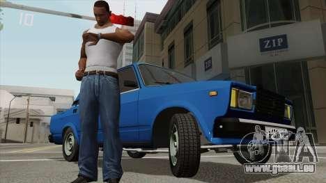 Zeigt die Uhrzeit auf eine Armbanduhr für GTA San Andreas dritten Screenshot