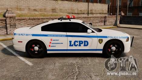 Dodge Charger 2012 LCPD [ELS] pour GTA 4 est une gauche