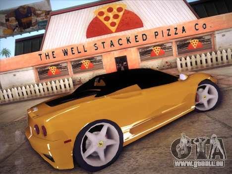 Ferrari 360 Spider für GTA San Andreas linke Ansicht