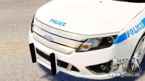 Ford Fusion LCPD 2011 [ELS] pour GTA 4 Vue arrière