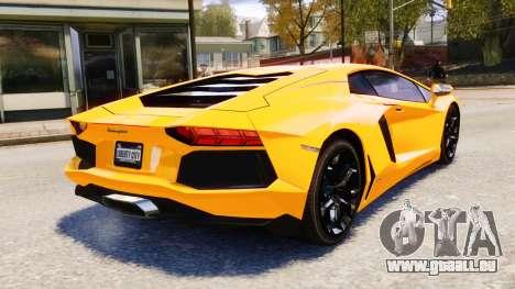 Lamborghini Aventador LP700-4 [EPM] 2012 pour GTA 4 vue de dessus