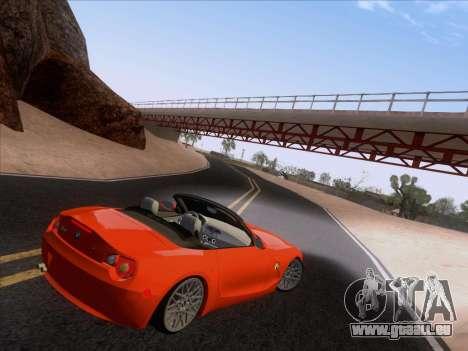 BMW Z4 Edit für GTA San Andreas zurück linke Ansicht