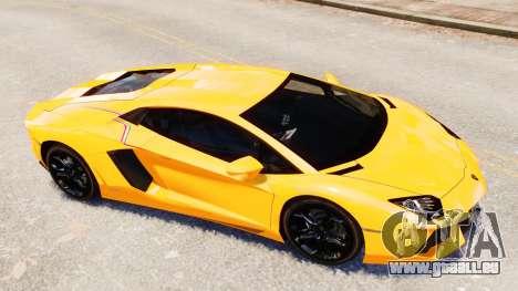 Lamborghini Aventador LP700-4 [EPM] 2012 für GTA 4 Unteransicht