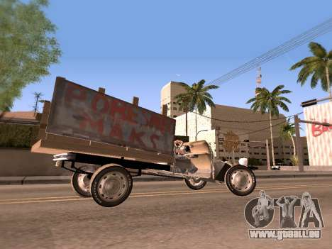 Citroen 2CV (Diana) pour GTA San Andreas sur la vue arrière gauche
