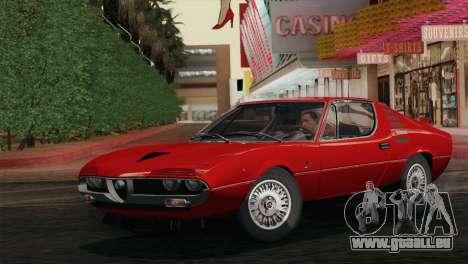 Alfa Romeo Montreal (105) 1970 für GTA San Andreas Rückansicht