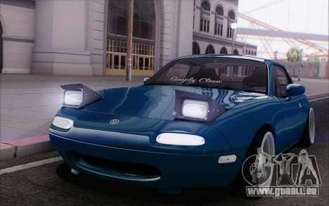 Mazda Miata pour GTA San Andreas vue intérieure