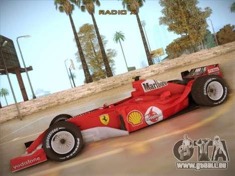 Ferrari F1 2005 pour GTA San Andreas laissé vue