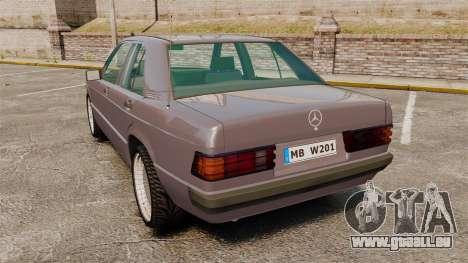 Mercedes-Benz E190 W201 für GTA 4 hinten links Ansicht