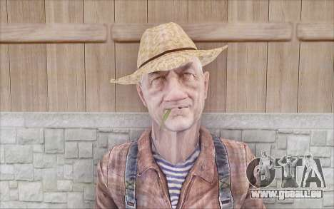 Agriculteur pour GTA San Andreas deuxième écran