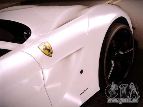 Ferrari F12 Berlinetta für GTA San Andreas zurück linke Ansicht