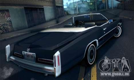 Cadillac Eldorado 1978 Convertible pour GTA San Andreas laissé vue