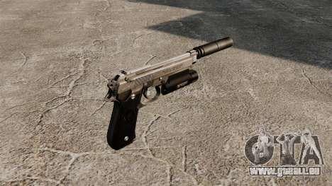 Beretta 92 halbautomatische Pistole mit Schalldä für GTA 4 Sekunden Bildschirm