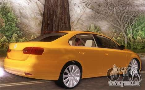 Volkswagen Vento 2012 pour GTA San Andreas sur la vue arrière gauche