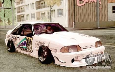 Ford Mustang SVT Cobra 1993 Drift für GTA San Andreas zurück linke Ansicht