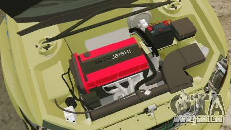 Mitsubishi Lancer Evolution IX 2006 tuning 2f2f pour GTA 4 est une vue de l'intérieur