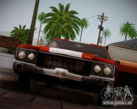Sabre Turbo pour GTA San Andreas vue de côté