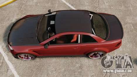GTA V Sentinel XS Street Tuned Edit für GTA 4 rechte Ansicht