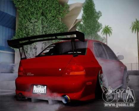 Mitsubishi Evolution VIII für GTA San Andreas rechten Ansicht