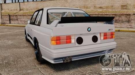 BMW M3 1990 Race version pour GTA 4 Vue arrière de la gauche