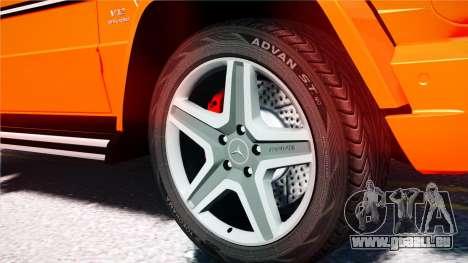 Mercedes-Benz G65 AMG 2013 pour GTA 4 Vue arrière