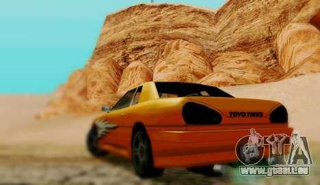 Les travaux de peinture pour Elegy pour GTA San Andreas sur la vue arrière gauche