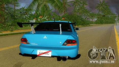 Mitsubishi Lancer Evolution VIII Type 8 für GTA Vice City zurück linke Ansicht