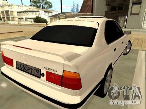 BMW 525 E34 pour GTA San Andreas sur la vue arrière gauche