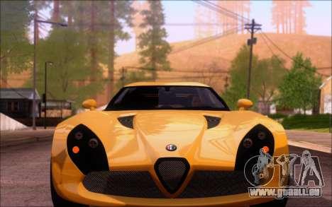 Alfa Romeo TZ3 2011 pour GTA San Andreas vue de droite
