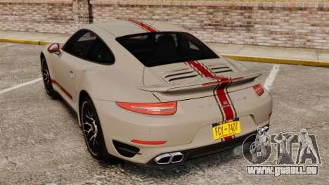 Porsche 911 Turbo 2014 [EPM] TechArt Design pour GTA 4 Vue arrière de la gauche